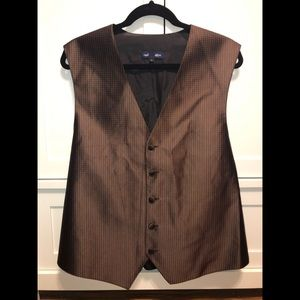 Neil Allyn Brown and Black vest size large